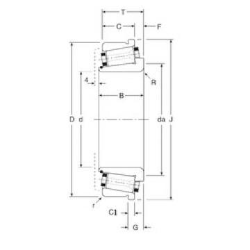 Bearing 382254X/382400XC Gamet