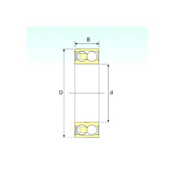 2206-2RSTN9 ISB Self Aligning Ball Bearings