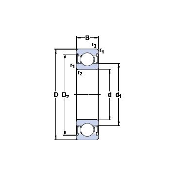 W 61917-2Z SKF Deep Groove Ball Bearings