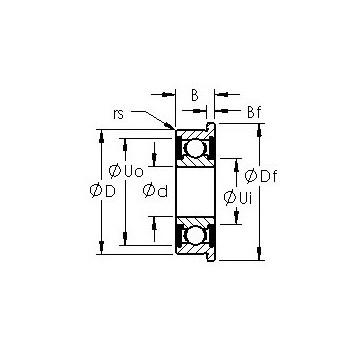 F695H-2RS AST Deep Groove Ball Bearings