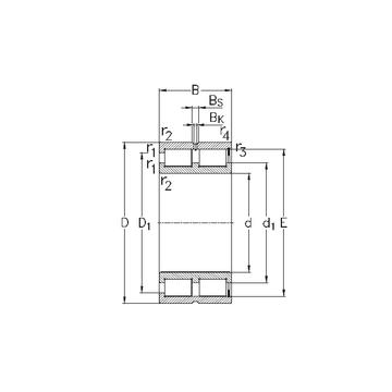 NNCF5052-V NKE Cylindrical Roller Bearings